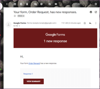 How to Get Responses from Google Forms in Email 01
