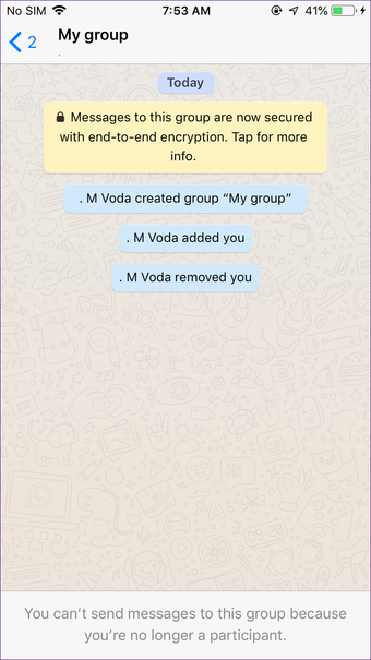 Create Whatsapp group with yourself on Iphone Android 9