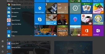 Get a transparent start menu in Windows 10