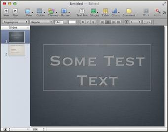 Keynote test text