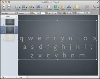 Keynote keyboard layout