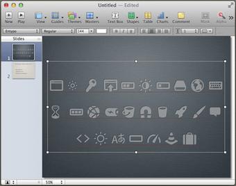 Keyboard layout of the Keynote icon