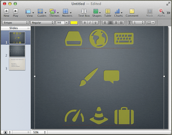 Keynote icon fonts formatted