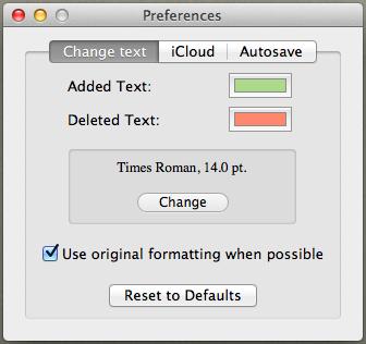 Draft control settings 1