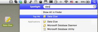 Spotlight drag file