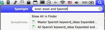 Excel and Spanish Spotlight Filter