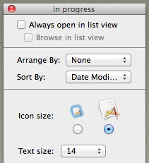 Finder 2 window viewing options