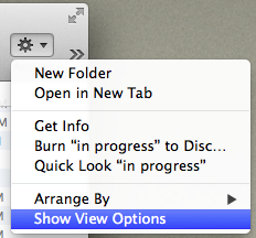 Finder Window Show Viewing Options