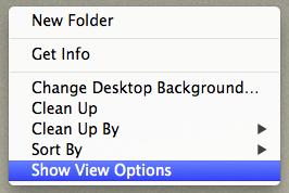 Desktop display display options