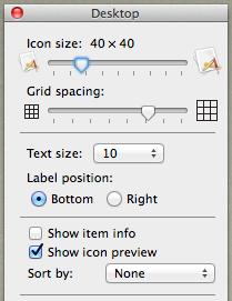 Desktop settings before