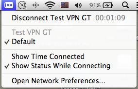 VPN menu bar icon