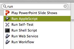 Automator Run Applescript