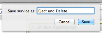 Eject and delete from Automator