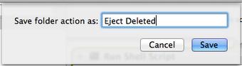 Automator new folder action