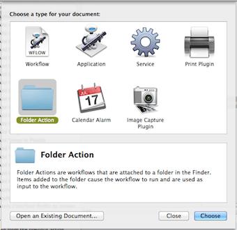 Folder Actions Automator