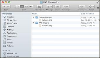 Converted folder stock image