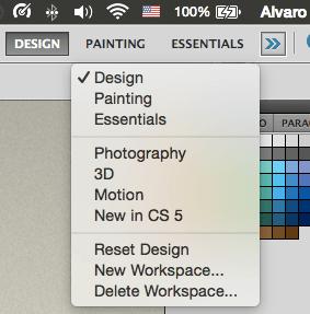 Alternative Photoshop workspaces