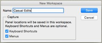 New Photoshop Workspace