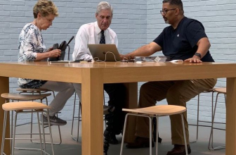 Special advisor, Robert Mueller, is currently on his MacBook