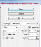 How to reduce image size for an application form
